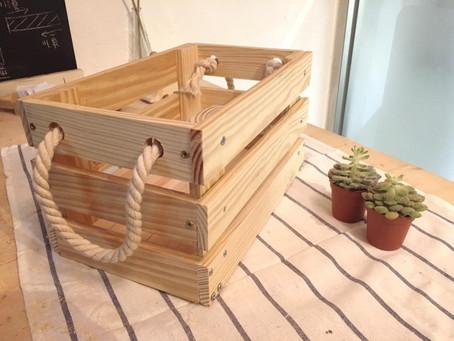 松木收納箱