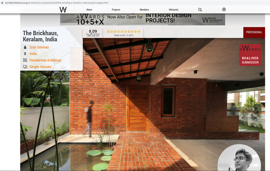 The BRICKHAUS By Srijit Srinivas - ARCHI
