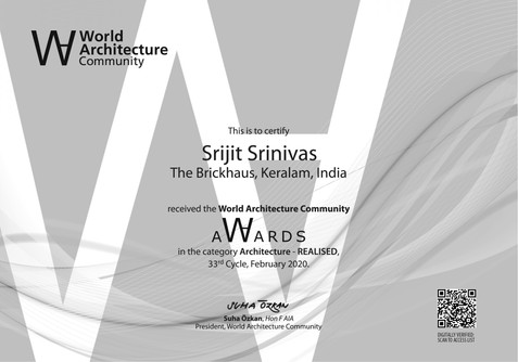 OFFICIAL CERTIFICATE World Architecture