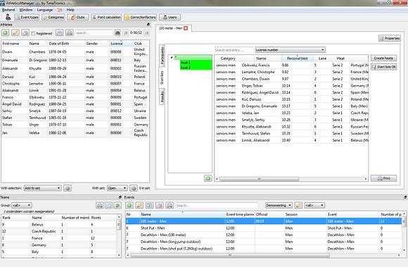 AthleticsManager software