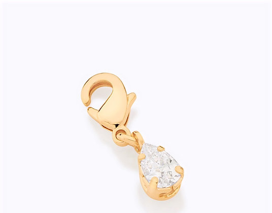 Pingente berloque rommanel banhado a ouro 18 k gota colorida 542358