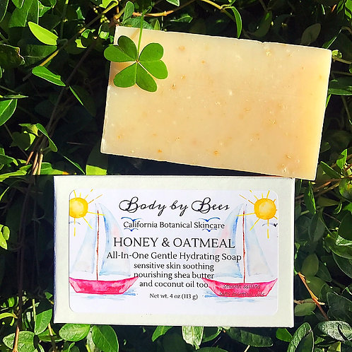 3-PACK HONEY & OATMEAL All-Natural Soothing Soap