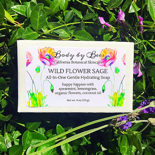 3-PACK WILD FLOWER SAGE All-Natural Refreshed Soap