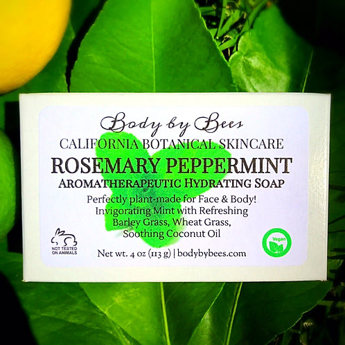 FRESH PEPPERMINT All-Natural Aromatherapy Soap