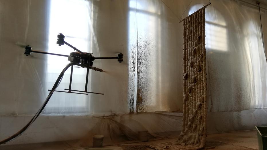 Copenhagen drone spray wall