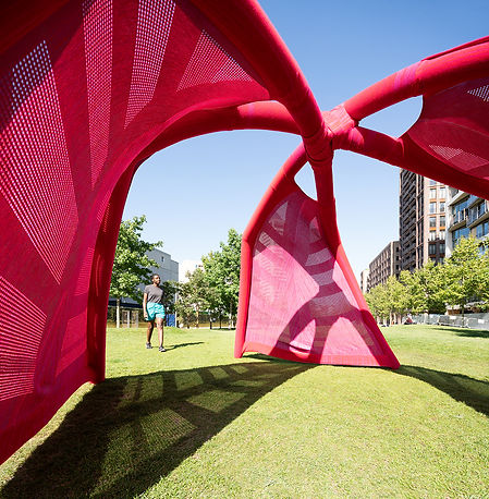 Textile architecture inflated in minutes for evnts and pergolas