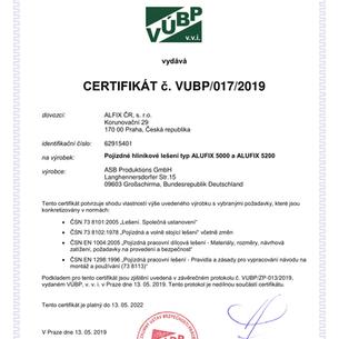 certifikát - bezpečnosti - pojízdného le