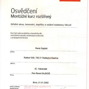 Certifikát - VELUX.jpg