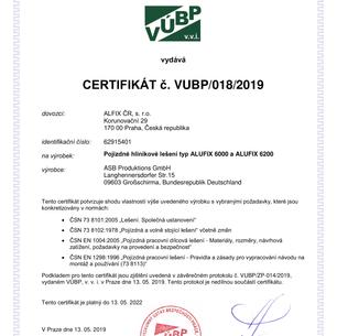certifikát - bezpečnosti -  pojízdného l