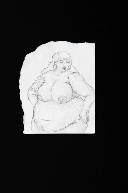 Neta Rose nude sketch with lily tattoos.jpg