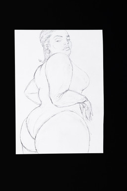 Neta Rose sketch of Lizzo