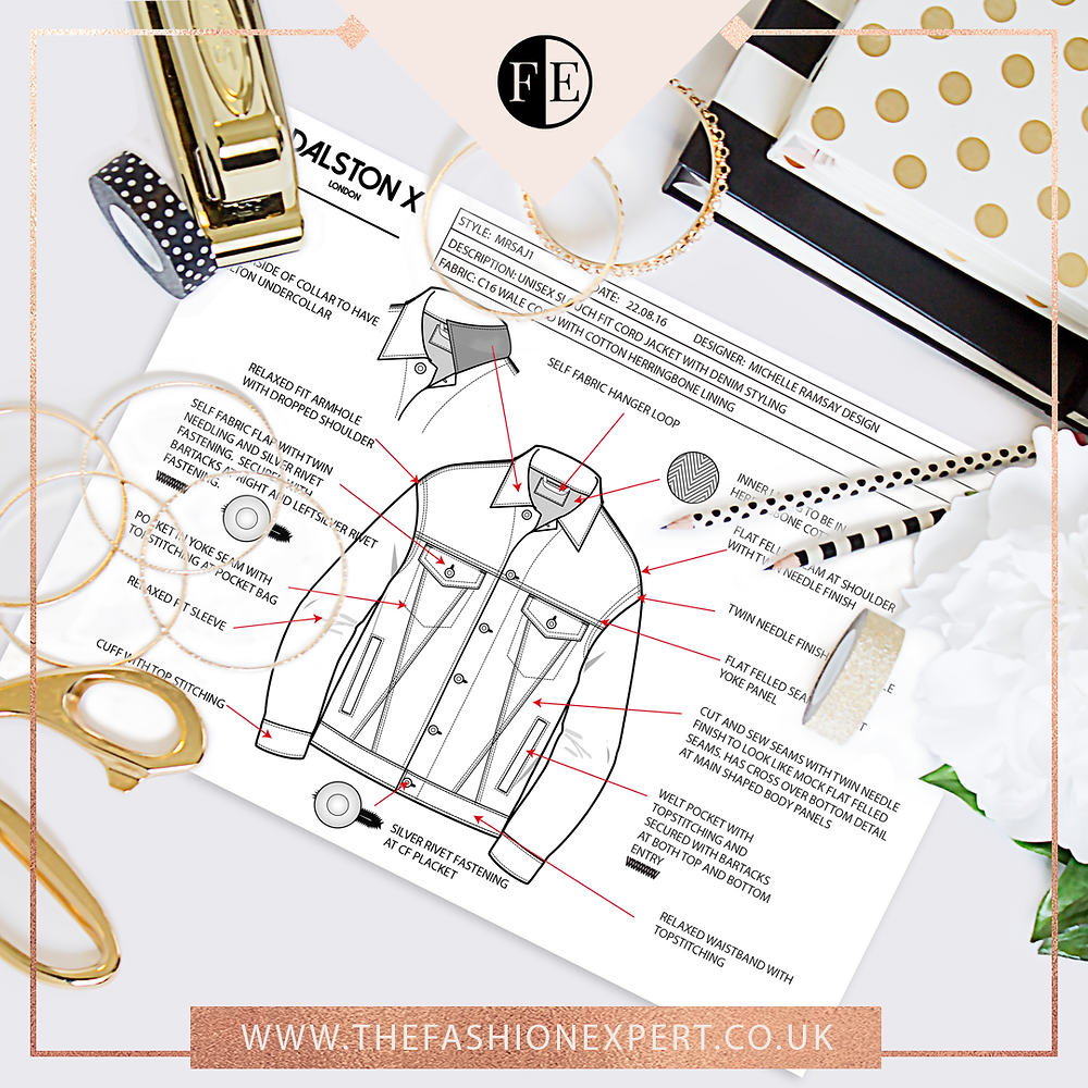 Professionally drawn fashion cads, tech packs and size specs