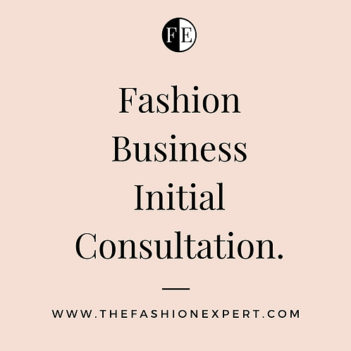 Fashion Initial Consultation - 1 hour.