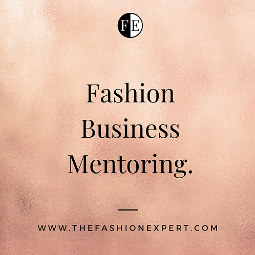 Fashion Business Mentoring - 1 hour.