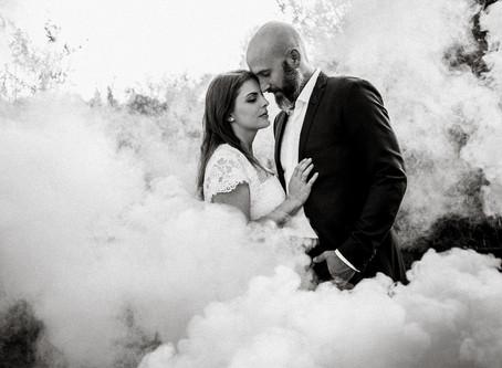 Wildes After Wedding Shooting mit Rauchdosen