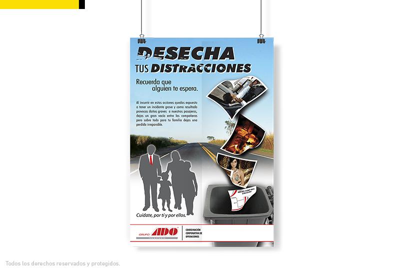 Cartel campaña para conductores