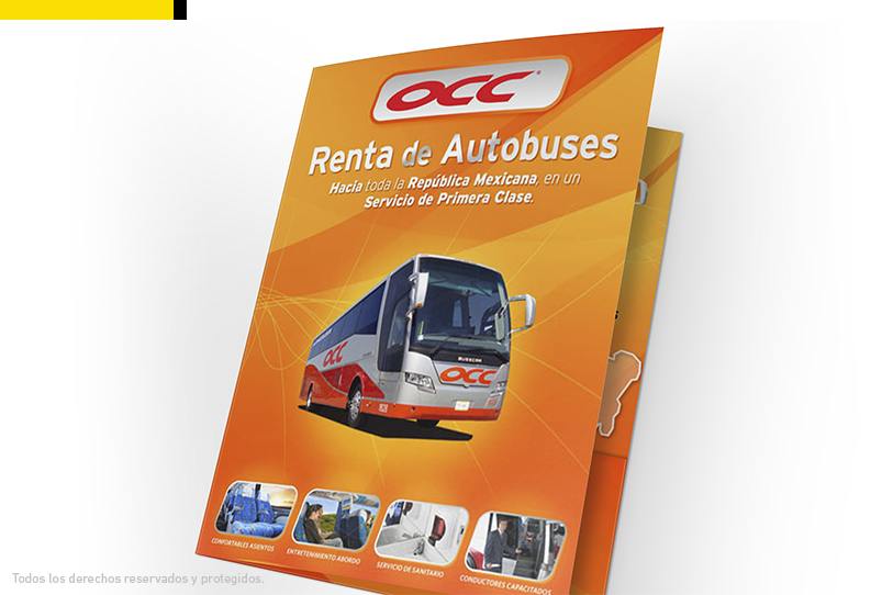 Folder renta de autobuses OCC