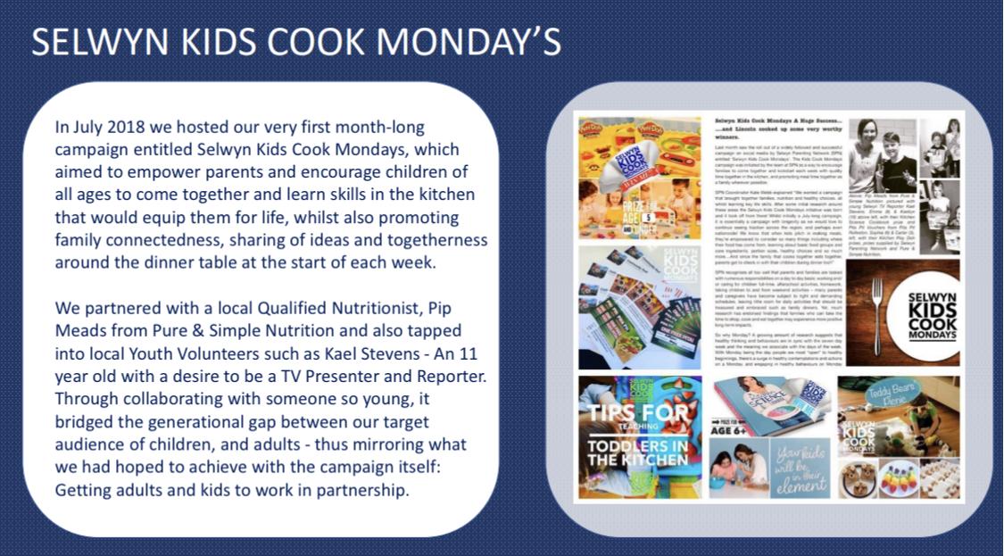 Selwyn Kids Cook Mondays 2018
