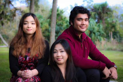family taking portrait pictures
