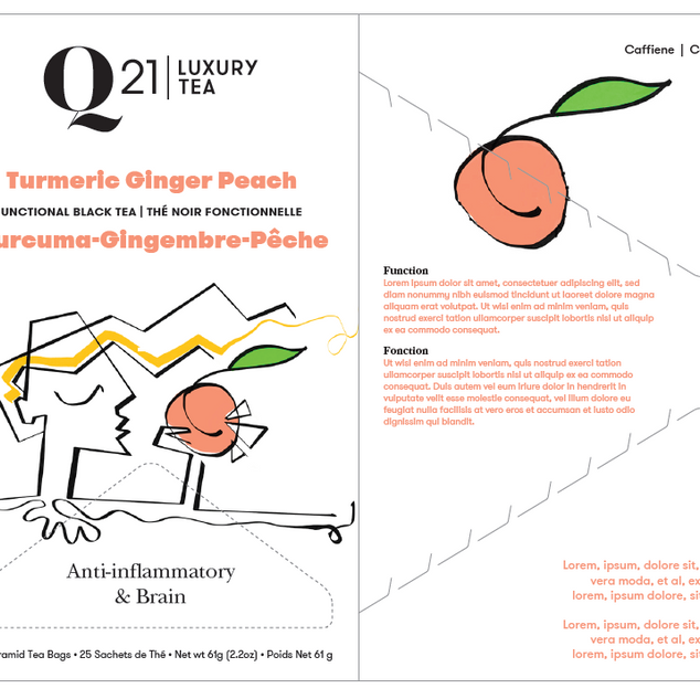 Q21 Tea Package illustration