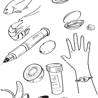 Pfeizer Epipen Project spot illustrations