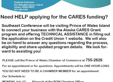 Eligibility and Technical Assistance for CARES Funding Coming to POW Island