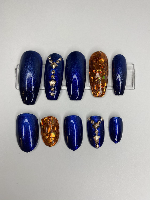 Royal Blue Press On Nails