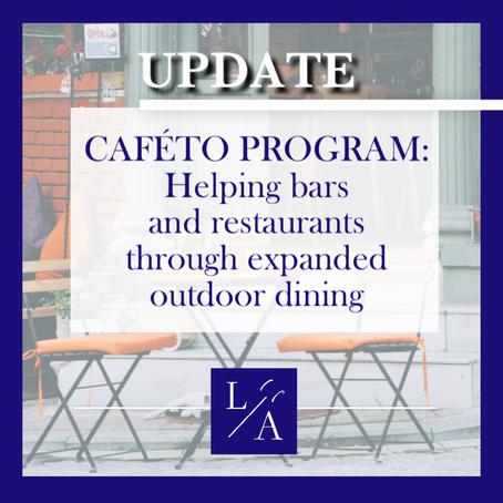Toronto Launched CafeTO Program