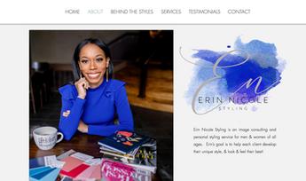 Erin Nicole Website Design
