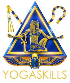 Yoga Skills Kemetic Yoga Logo Merged T-S