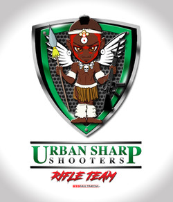 Urban Sharp Shooter Rifle Team Logo