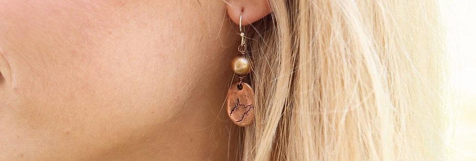 Copper WV Earrings
