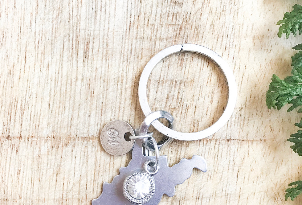 The West Keychain (Silver)