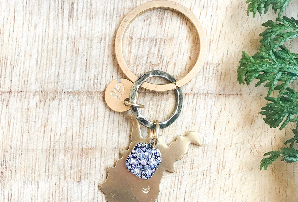 The West Keychain (Gold)