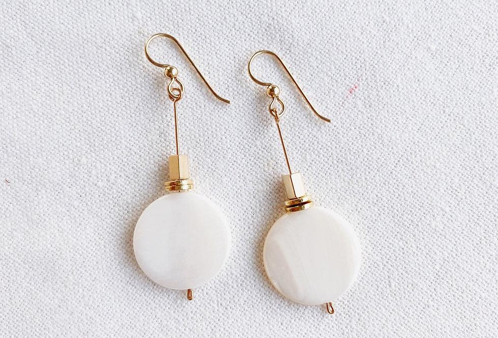Pearl Drop Earrings (rectangle)