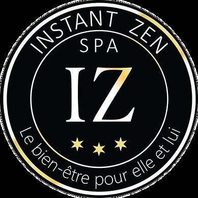 Logo Instant Zen grand format blanc et o