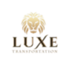 Luxe Transportation Logo on Transp Backg