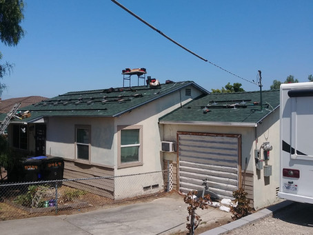 Roof replacement project in San Diego
