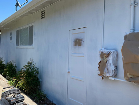 House Painting Job In Progress La Mesa 91942