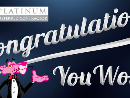 2021 Owens Corning Roofing Platinum Award winner!