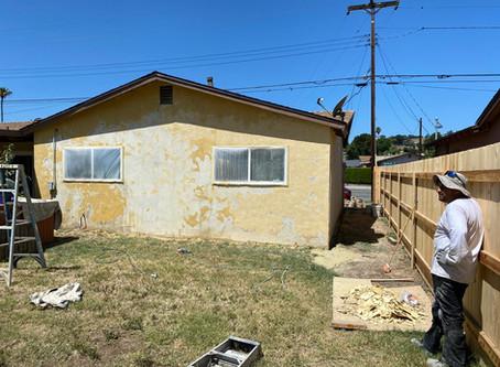 House Painting job in progress in Mira Mesa 92126