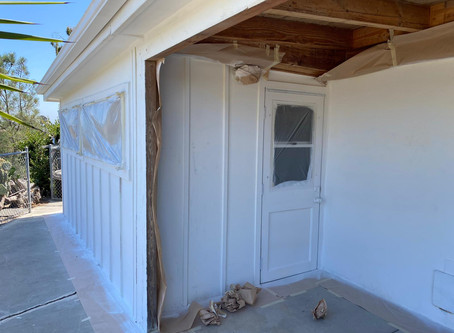 House Painting in progress in San Diego.