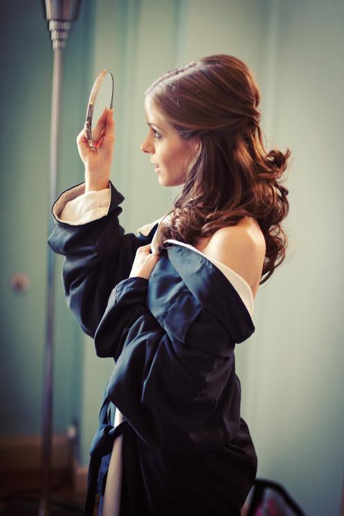 Hair by Amanda Foster & Makeup by Ros Van Dyk