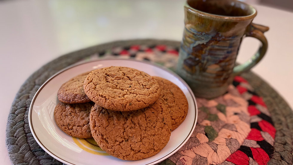Chewy Ginger Rosemary Cookies