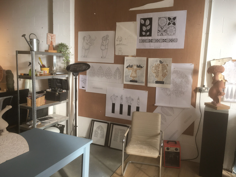 Drawing Wall at Sculpture Lounge Studios