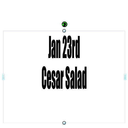 Jan 23rd - Cesar Salad