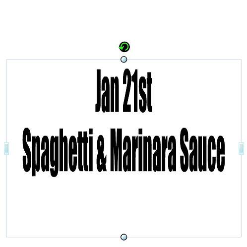 Jan 21st - Spaghetti & Marinara Sauce