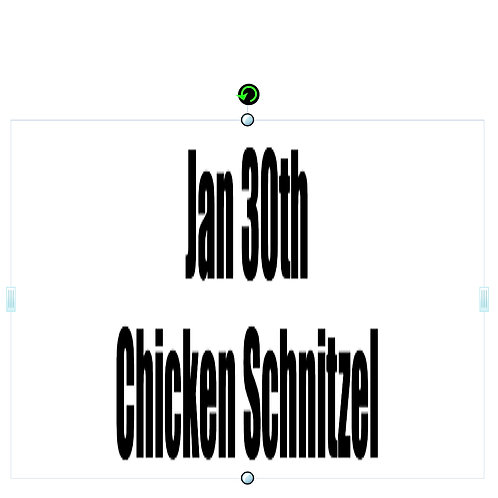 Jan 30th - Chicken Schnitzel