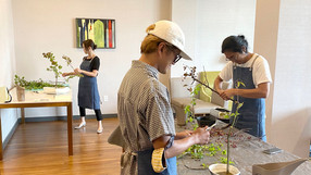 At last! We restarted our in-person Ikebana classes.
