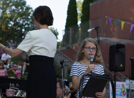 Katie helps with first WSSO gig